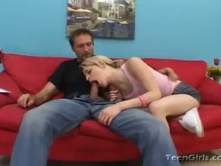 Virginal Looking Ally Ann Fills Her Pleasant Mouth With Filthy Hard Cock