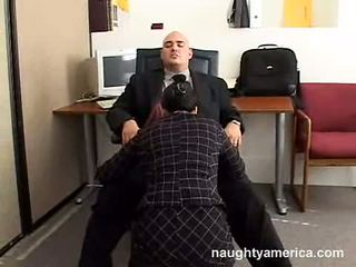Darksome Haired Reina Leone Sucking Her Boss Beefy Cock In The Office