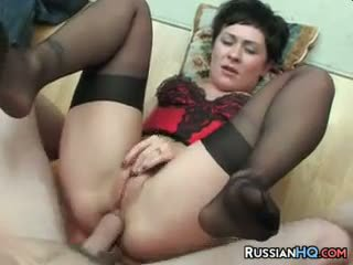 Russo milf anale scopata