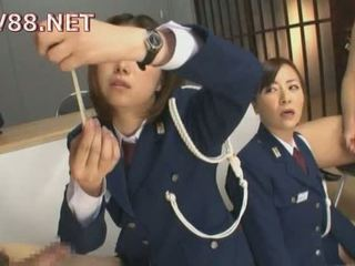 Japanese female prison guards fuck their inmates