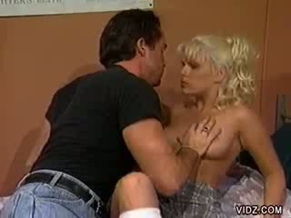 Blond bitch Lexi fucked while roomy sleeps