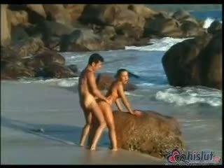 γεμάτος doggystyle hq, hq cum ποιότητα, νέος παραλία πραγματικός
