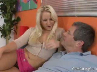 Sperma eating cuckolds: blondynka kimmy olsen cuckolds jej boyfriend pieprzenie inny dude
