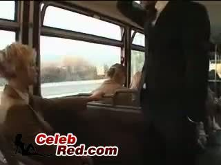 Blonde Schoolgirl Maniac Abuse Japanese Guy In Bus With