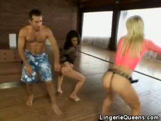 Aerobics and lingeries