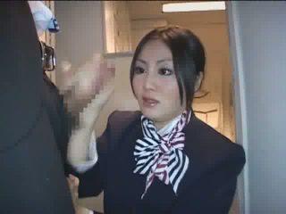 Japanese Stewardess HJ Video