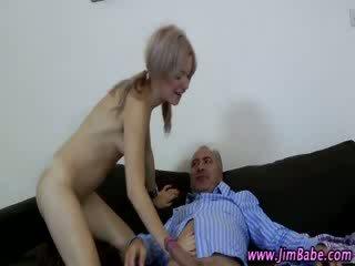 Older guy babe slut blowjob and fuck