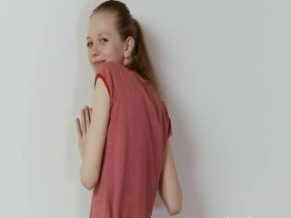 Drunk russian super skinny girl posing