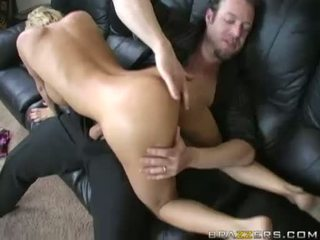 Busty Blonde DiAmond Foxxx Blows A Hard Meatpole On The Daybed