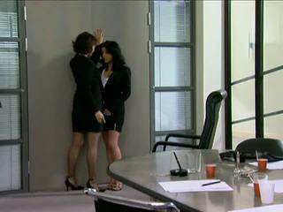 completo gonna più caldo, controllare ufficio voi, lesbica