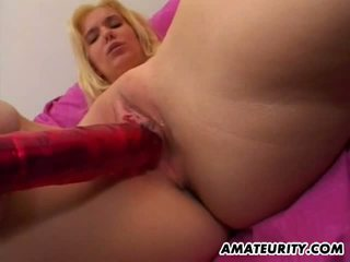 Amateurity: Amateur blonde loves facials