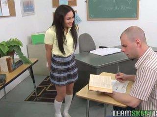brunette, schoolgirl, pornstar