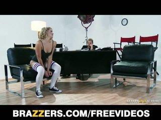 Fleksibel blondt dancer mia malkova, fleksibel ludder
