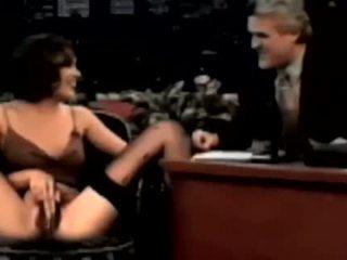 Alyssa Milano Pissing On Jay Leno Talkshow