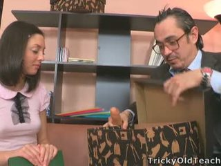 Teen Bith Fucked All Over Teacher Inside His Office.