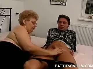 big boobs, granny, blowjob