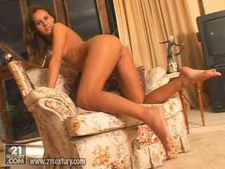 Hawt Golden Haired Zuzana Zeleznovova Undresses And Rubbing Her Tiny Pussy