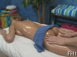 brunette, blowjob, massage