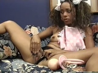 Ebony Baby Gets A Hard Lollipop