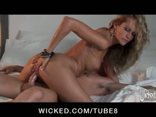 Stunning blonde mistress Jessica Drake fucks a married man
