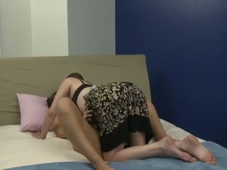 Old bitch plays with her new young girlfriend