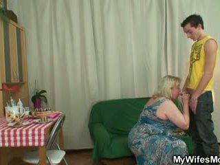 Horny oldie seduces son in law