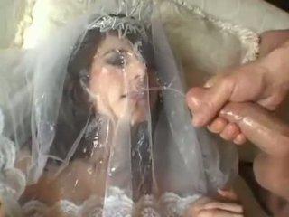 Forró menyasszony jackie ashe takes egy legnagyobb és rendetlen arcra élvezés cumsplash