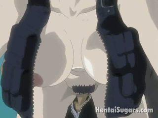 Enticing Brunette Manga Minx Getting Muff Drilled By A Huge Gun
