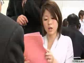 Female Japanese employees go nude at work