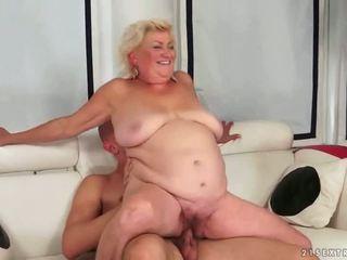 vieux, grand-mère, pipe, graisse