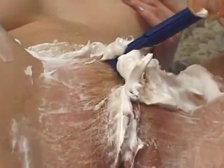 Hot wife gets fucked after shaving her pussy