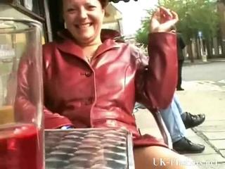 Mature Exhibitionist Touching In Public And Squirting Onto Pavements By Old Tinker Flasher Out Of Doors