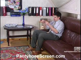 Rosa এবং adam videotaped whilst pantyhosing