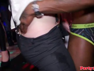Real partying euro brunette sucks dick