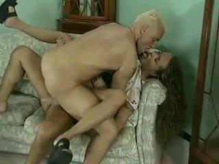 Young beauty getting sandwiched hard. Facial