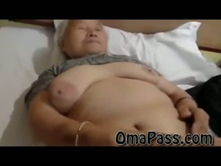 Muy viejo gorda japanes abuelita follando así duro con uno hombre vídeo