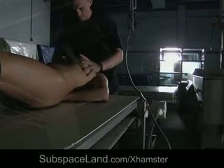 Bellina is scared and spanked to suck submissively