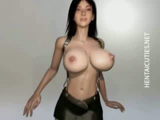 Big Boob 3D manga model gets fucked Rough