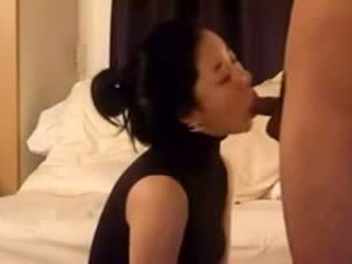 Hot Beautiful Asian sucking Dick and fucked
