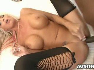 Big Lex Steele Copulates Jordan Blue's Moist Twat Hard Then Cums All Over Her Twat
