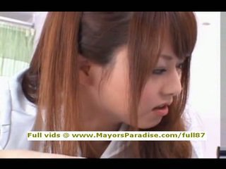 Akiho Yoshizawa from idol69 naughty asian nurse likes to do blowjob