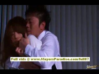 Akiho yoshizawa סיני נערה gets מעוללת ב עבודה