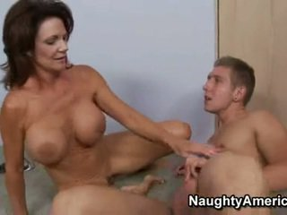 Hawt momma deauxma fills her mesum mouth with an fantastic thick meatpole