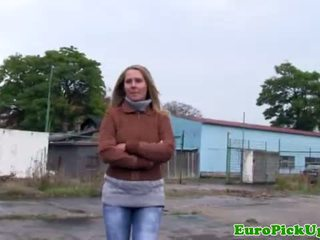 Real pulled czech amateur flashing outdoor