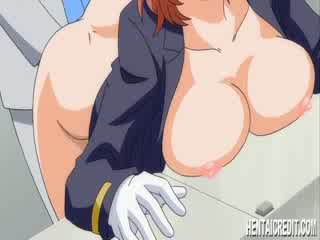 Hentai girl gets a nasty enema