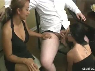 Latin Mom Jerks Her Bosss Cock To Get Her Job Bac