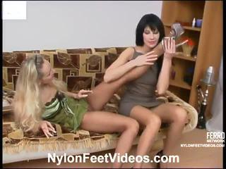 jalka fetissi, sileää seksiä, sexy nylon legs and feet
