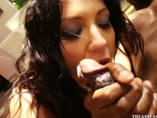 Compilation White Chicks Swallow Black Cum (4)