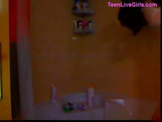 Teen girl gorgeous blonde on webcam 29 min