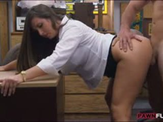 Big Ass Babe Twat Nailed By Pawn Keeper In The Backroom